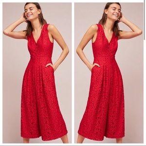 ❤️ Moulinette Soeurs Red Lace Jumpsuit
